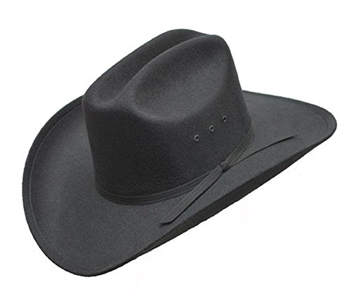 f4a75b13a0d Sunrise Outlet Brown Faux Felt Cowboy Hat with Brown Band - Elastic Fit -  Small