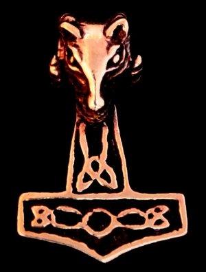 Bronze Anhänger Widder (Bronze Anhänger Widder Hammer Kettenanhänger Widderhammer)