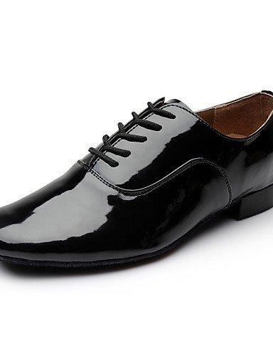 ShangYi Scarpe da ballo - Non personalizzabile - Uomo - Moderno - Tacco spesso - Eco-pelle - Nero / Bianco Black