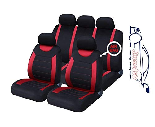 XtremeAuto ss5293.type6 -Set Completo di coprisedili universali per Auto, Adesivo Incluso, Colore: Rosso/Nero