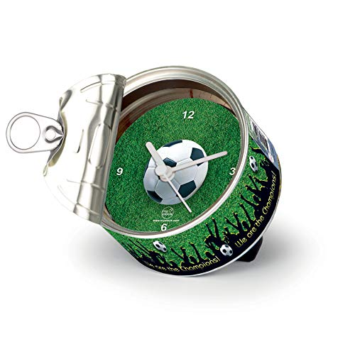 My Clock MyClock Personalisierbare Uhr, Foto-Geschenk, Bilder-Rahmen, Souvenir, Magnet, Lustiges Gadget - Football