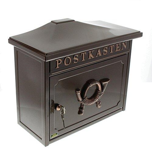 Burg-Wächter Stahlblech-Briefkasten, Postkasten, Sylt 1883K, Kupfer-metallic