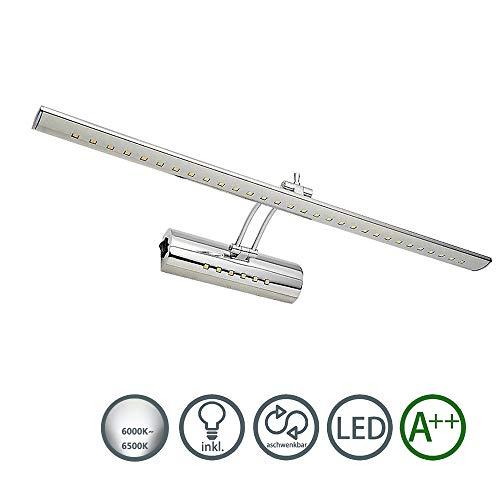 HENGDA11W LED 180 ° einstellbar Spiegellampe Edelstahl Spiegelleuchte Badleuchte Dual-Lichtquelle mit Schalter IP44 Schranklampe Bilderlampe Wandleuchte(11w Edelstahl Weiß)