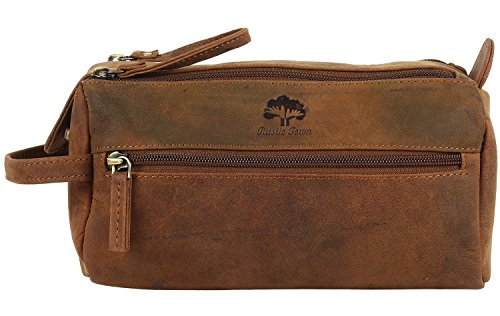 Handmade Buffalo Genuine Leather Toiletry Bag Dopp Kit Shaving and ... 1692aa0b9204b