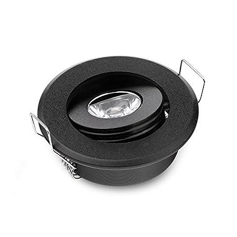10Mini-LED-Spots 3W LED-Spot schwarze LED-Einbauleuchte / -Deckenleuchte für Unterschrankmontage