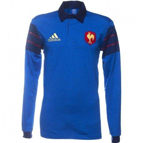 adidas FFR SUP JSY LS T-shirt pour homme Bleu/bleu marine/rouge/blanc