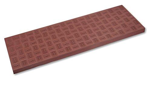 Gummi-Stufenmatte / Treppenmatte braun 75x25cm Riefe