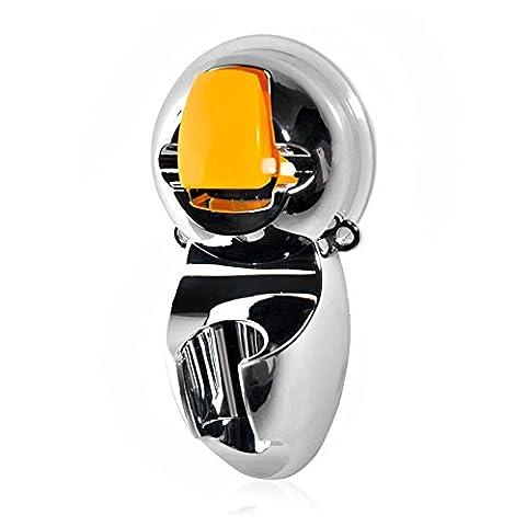 Universel support pour pommeau de douche réglable de salle de bain à fixation murale support ventouse Pommeau de douche Arroseur Base Accessoires de douche–Chrome