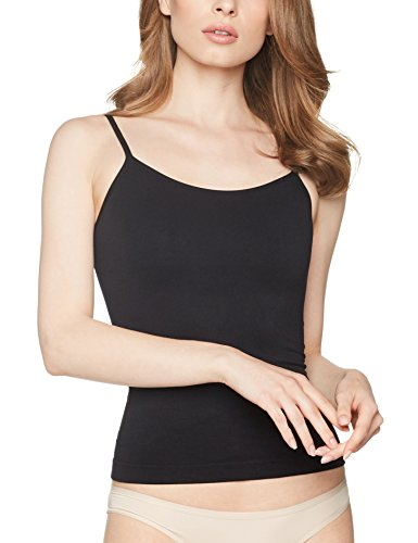 Iris & Lilly Damen Figurformendes Cami-Top, Schwarz, Small (Cami Stretch Damen)