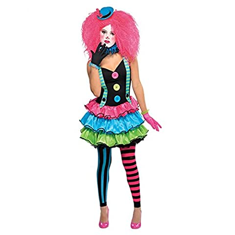 Clown Rose Costumes - Les adolescents Clown Costume Rose Filles Femmes