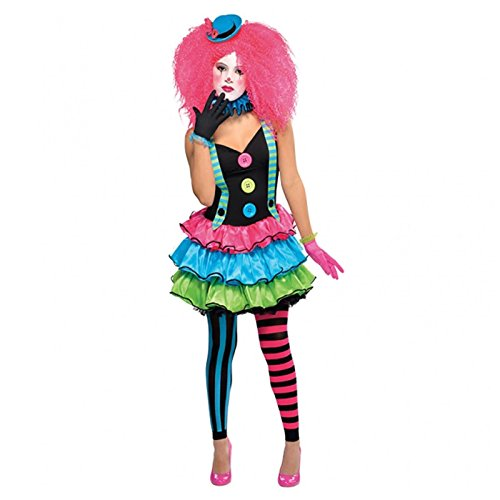 Clown Teenager Mädchen Teenager rosa Kostüm Clown Jester Harlequin Honig Halloween Kostüm Rosa Harley Quinn