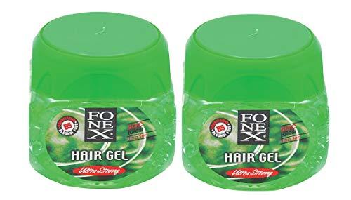 Fonex 2x Haargel ultra stark je 500 ml (1000ml) alkoholfrei | Styling Hair Gel for men | Haargel für Männer ohne das Haar auszutrocknen