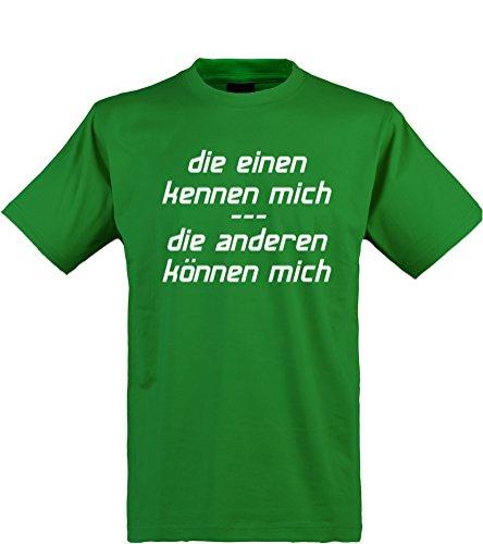 lustiges Herren T-Shirt mit witzigem Spruch, kennen und können, Größen S-XXL, cooles Fun-Shirt ideal als Geschenk, kelly-grün, Gr. (Kostüme Macho Herren)