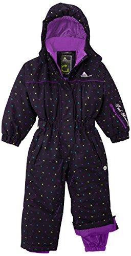 Peak Mountain Fancy/TG–Traje de esquí para, niña, color Negro - black - carbon, tamaño FR : 6 ans (Taille Fabricant : 6)