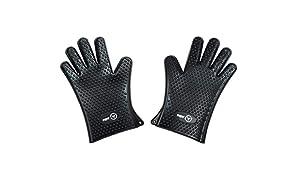 Moesta-BBQ 10306 MeatGloves No. 1 Silikon Handschuhe Größe M/L – Hitzebeständige und spülmaschinenfeste Grill- und Ofen-Handschuhe mit rutschfesten Noppen – zertifiziert nach Lebensmittelstandard LFGB
