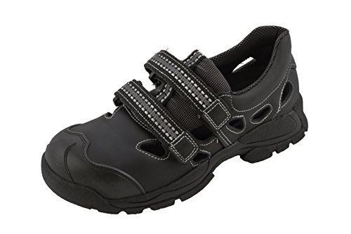 Euro-dan Walki Sport sandalia en negro S1 + P + SRC, color negro, talla 34