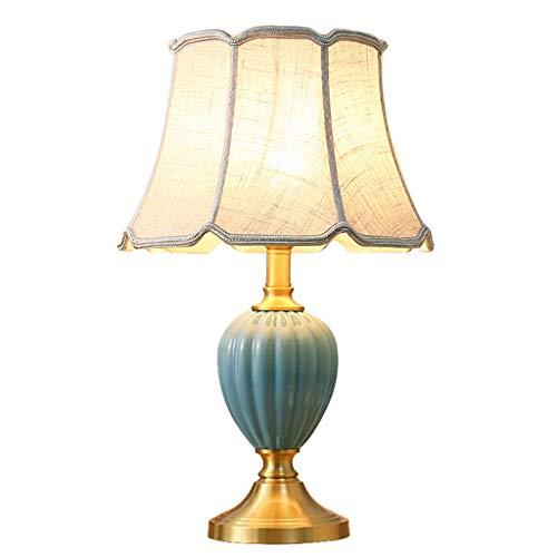 Lampe de bureau Céramique Creative Design Lampes de table Salon Décor Tissu Ombre Chambre Lampe De Chevet