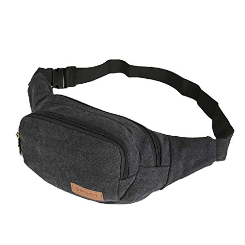 Ysber moda tela viaggi sport waist Packs marsupio running borsa borsa di tela Toolkit regolabile petto Pack bici zaini trekking zaini per uomini (Army green) Black