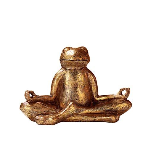 Yoga Frosch Mantra, Höhe 20 cm