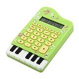 DealMux Piano Design Estudante Escritório Escola Portátil 24 chaves eletrônicas Calculadora Verde