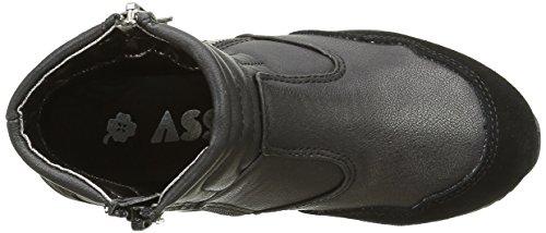 Asso Mädchen D3261 Sneaker Schwarz - Schwarz (Black)