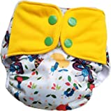 superbottoms Plus UNO Reusable Cloth Diaper with Magic Soaker Like Prefold Which Dries Quickly One Dry-Feel Open Insert…