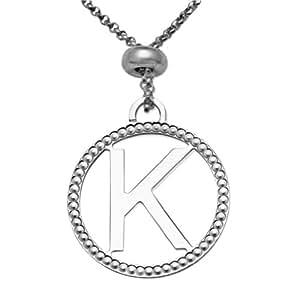 Joy Jewels Damen-Halskette 925 Sterling Silber Anhänger Letter K 48cm JA162NK