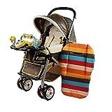 Tragbare Kinderwagen Sitzkissen Baumwolle Streifen Baby Auto Wasserdichte Pad Kinderwagen Zubehör Kinderwagen Regenbogen Baumwolle Dicke Matte