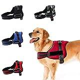 ZHANGZHIYUA Weste Harness - Hundekörper gepolsterte Weste - Komfortsteuerung für große Hunde beim Training Gehen - Kein Ziehen, Ziehen oder Würgen mehr,A,XXL