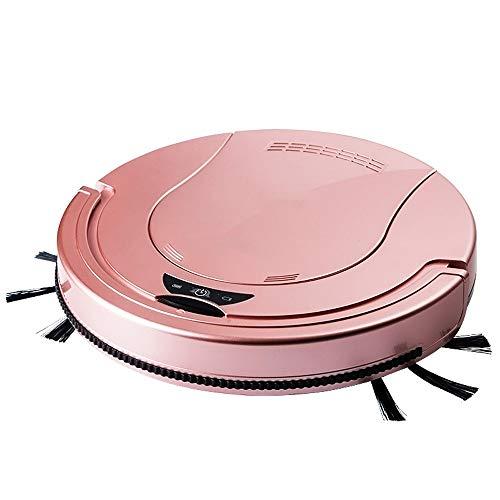 Hzna Intelligenter Staubsauger Automatische Wischwischmaschine Reinigungsmaschine 2000 MAh Große Lithium-Batterie Mopp 55mm Slim Body Drag 1 Körper (Farbe : Rosa)