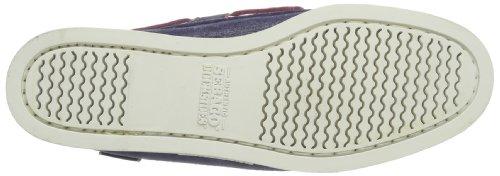 Sebago Docksides, Chaussures Bateau Femme Bleu (Navy Foil Emb)