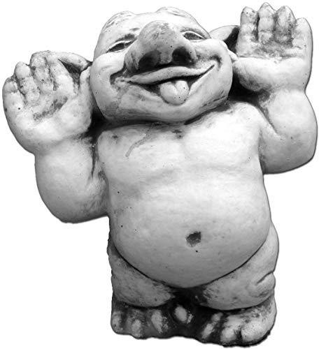 """Lustiger Troll """"Hallo, da bin ich!"""" aus Steinguss, frostfest"""