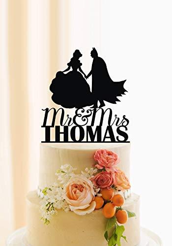 sonalisierte Hochzeitstorte Tortenaufsatz für Hochzeit, Superhelden, Batman, Hochzeit, Nachname ()