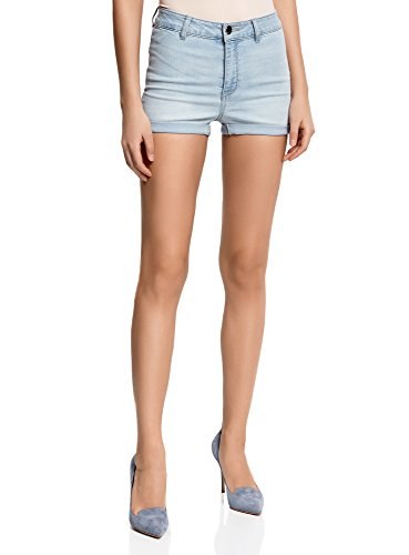 oodji Ultra Women's Basic High Waisted Denim Shorts