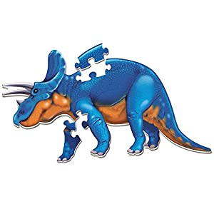 Learning Resources Puzle Jumbo de Dinosaurio para Montar en el Suelo Triceratops, Color (LER2857)