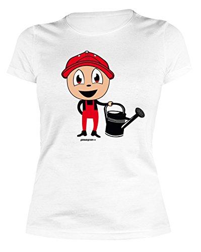 Veri Garten Gartenkleidung Print Damen T-Shirt Hobbygärtner Gartenfreunde HOBBYGÄRTNER Ostergeschenke Gartler Gartenarbeit Sprüche Geschenke Bedruckt Gr. XL :