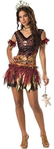Voodoo Mädchen Kostüm - Fancy Me Teenage Mädchen 4 Stück Voodoo Halloween Party Kostüm Kleid Outfit 14-18 Jahre - 16-18 Years
