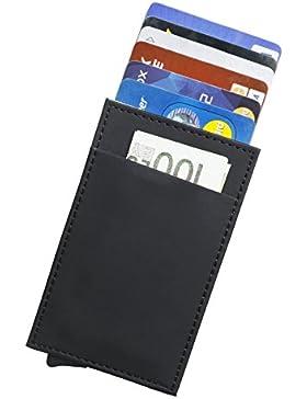 Tarjeta de Cr¨¦dito Slim, RFID Bloqueo Monedero de Cuero, Mini Billetera para Tarjetas de Cr¨¦dito