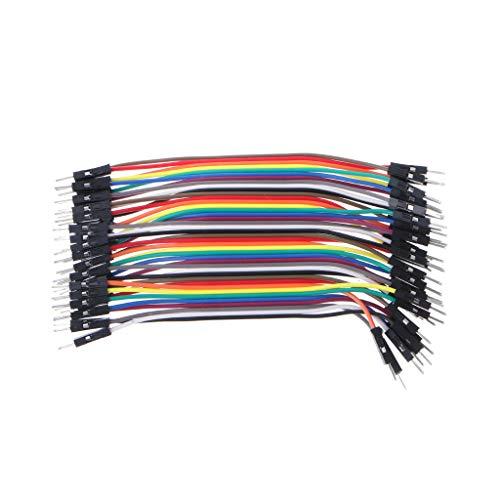 JOYKK 40Pieces Cavi M-M Jumper Breadboard Wire Colorato GPIO Ribbon per Kit Fai da Te - Colorato - 10cm