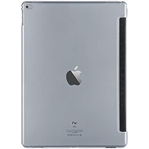 PLEMO Cover posteriore trasparente custodia protettiva per Apple iPad Pro 12.9 Pollici, compatibile con Smart Cover, resistenza allo scivolamento