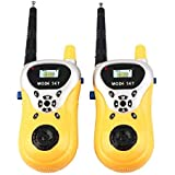 MWT TOYZ Battery Operated Walkie Talkie Set for Kids with Extendable Antenna for Extra Range, Multi Color