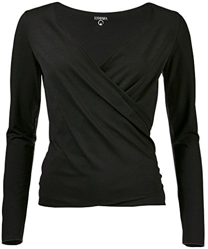 Golden Lutz - Damen Yoga-Jacke Yoga-Shirt, Langarm (schwarz, XL - 48/50) | ESMARA