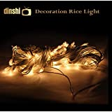 Dinshi Diwali Lights for Home and Outdoor Decoration Pack of 3 Pieces in Warm White Color – 65 LED, 12 Meter Each String