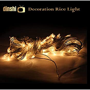 Dinshi Diwali Lights for Home and Outdoor Decoration Pack of 3 Pieces in Warm White Color - 65 LED, 12 Meter Each String
