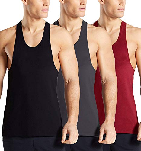 Burlady 3er Pack Herren Tanktop Fitness unterhemd untershirt achselshirt -
