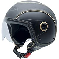 NZI 150213G093 Celebrities Matt Black Casco de Moto, Color Goma Negro, Talla 58 (