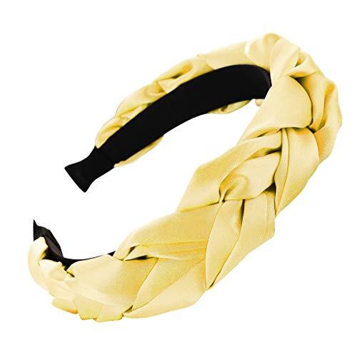 SuperSU Stirnband ►▷Frauen Stirnbänder Haarbänder Turban Einfach stilvoll Satin Verdreht Design Haar Zubehör,Damen Haarschmuck Niedlich Haarschmuck Stirnband Yoga Sport Haarreif