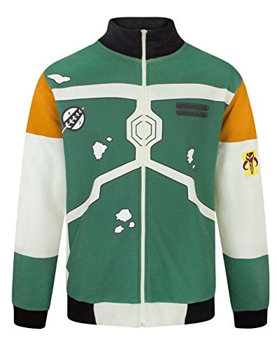Männer Bounty Hunter Kostüme (Star Wars Boba Fett Costume Men's Bomber Jacket)
