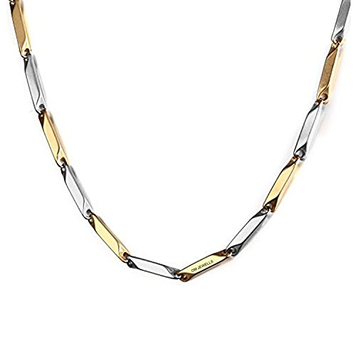 Diwali gift - Om Jewells Italian Two Tone Stainless Steel Chain for Boys and Men CN1000201