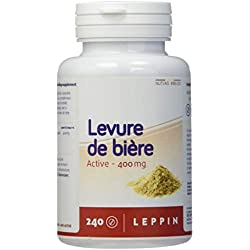 LEPPIN ☘️ Levure de bière 240 comprimés VEGAN   Peau saine & Cheveux en bonne santé   Levure active - Complément alimentaire 100% naturel